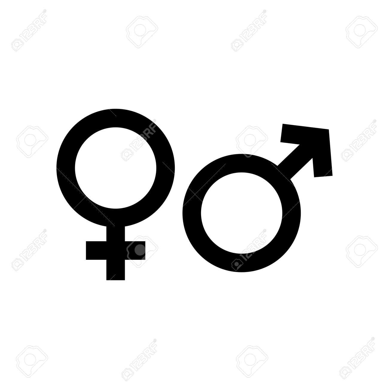Gender symbol. design template vector - 145682456