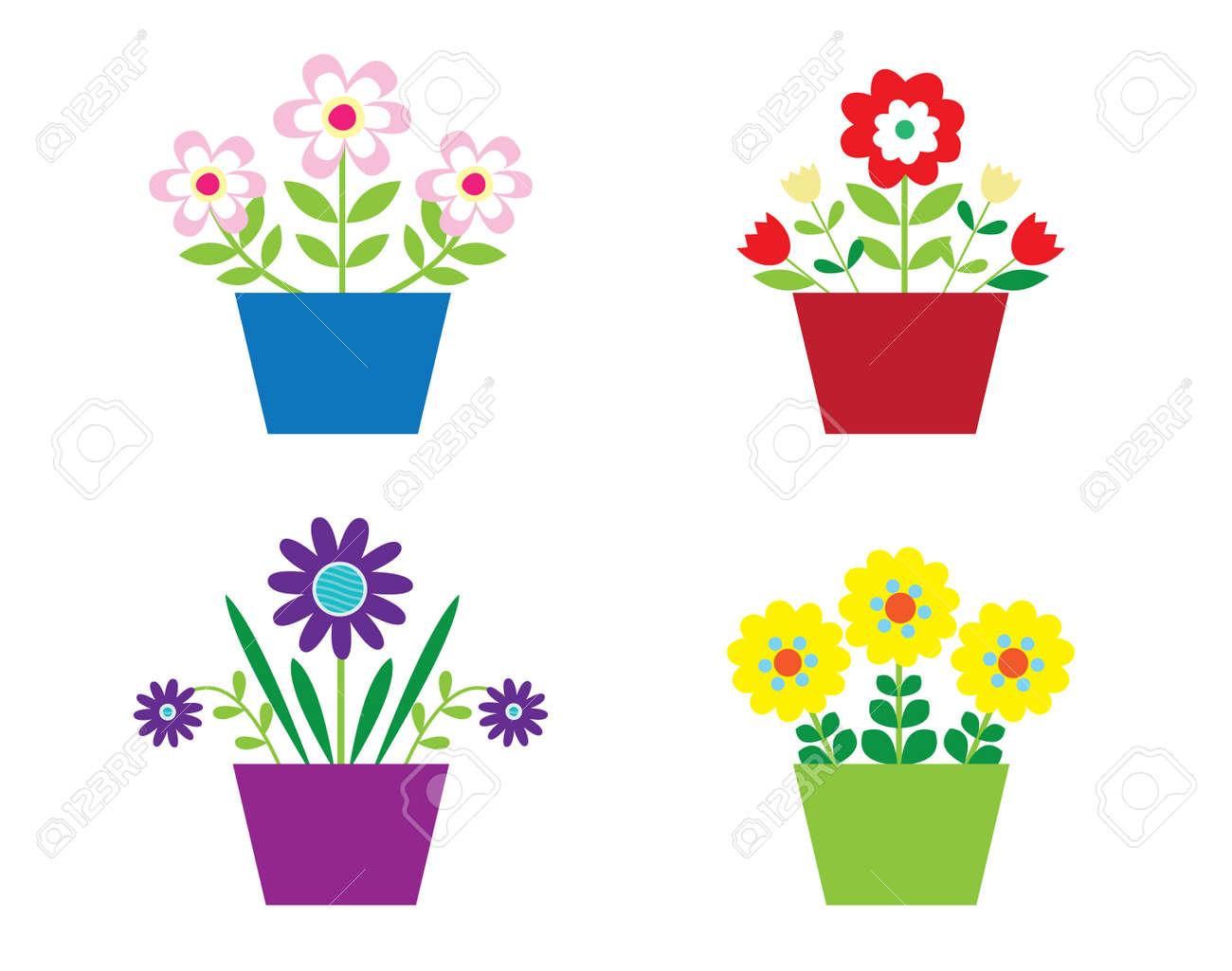 Flowers in Pots Stock Vector - 5820283