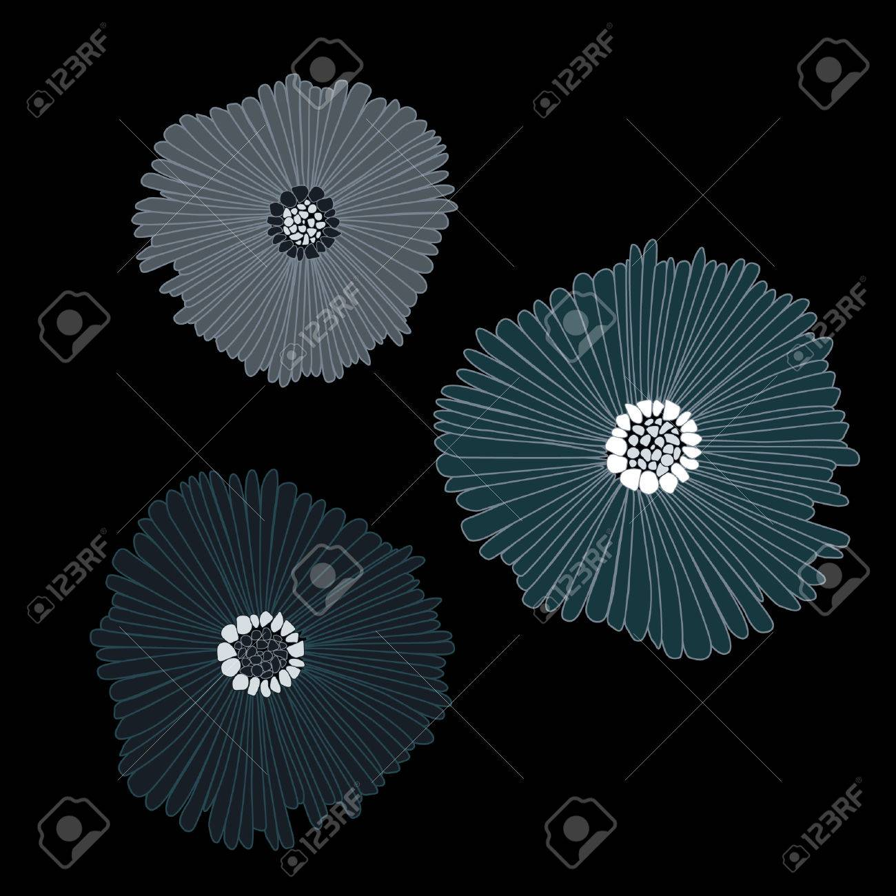 Big Dark Flowers Stock Vector - 5820253