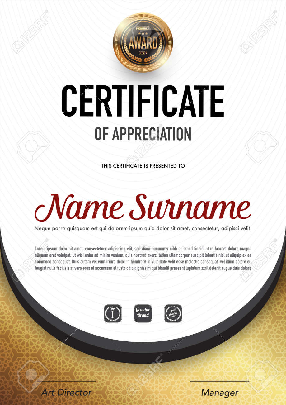 Certificate template luxury and diploma style,vector illustration