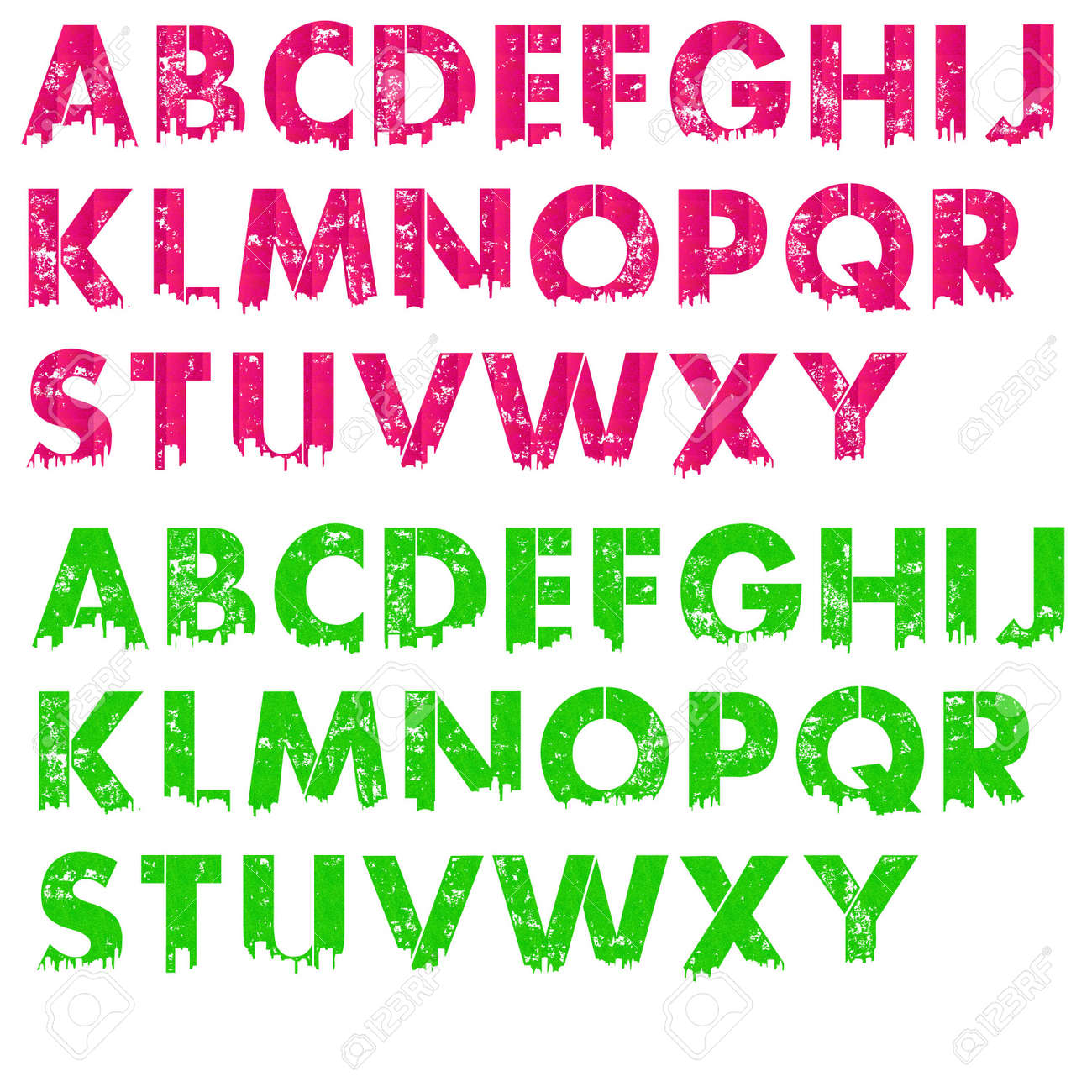 hot pink lime green city letters stock photo 12767484