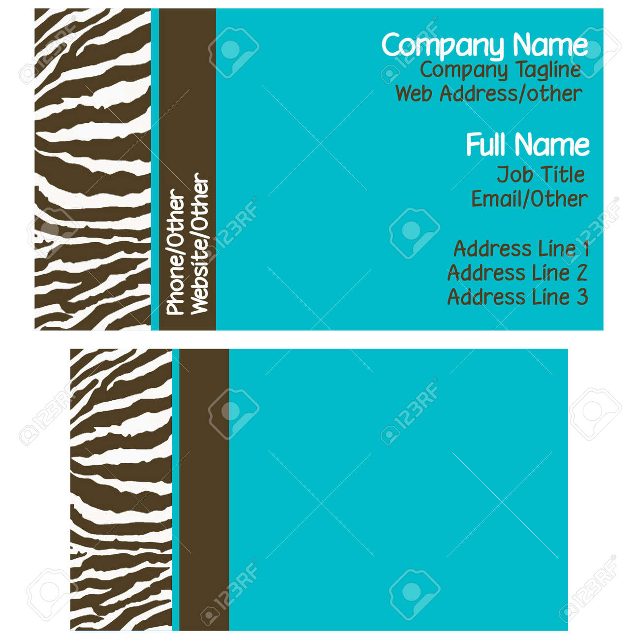 Fancy zebra business cards embellishment business card ideas old fashioned zebra print business cards picture collection reheart Choice Image