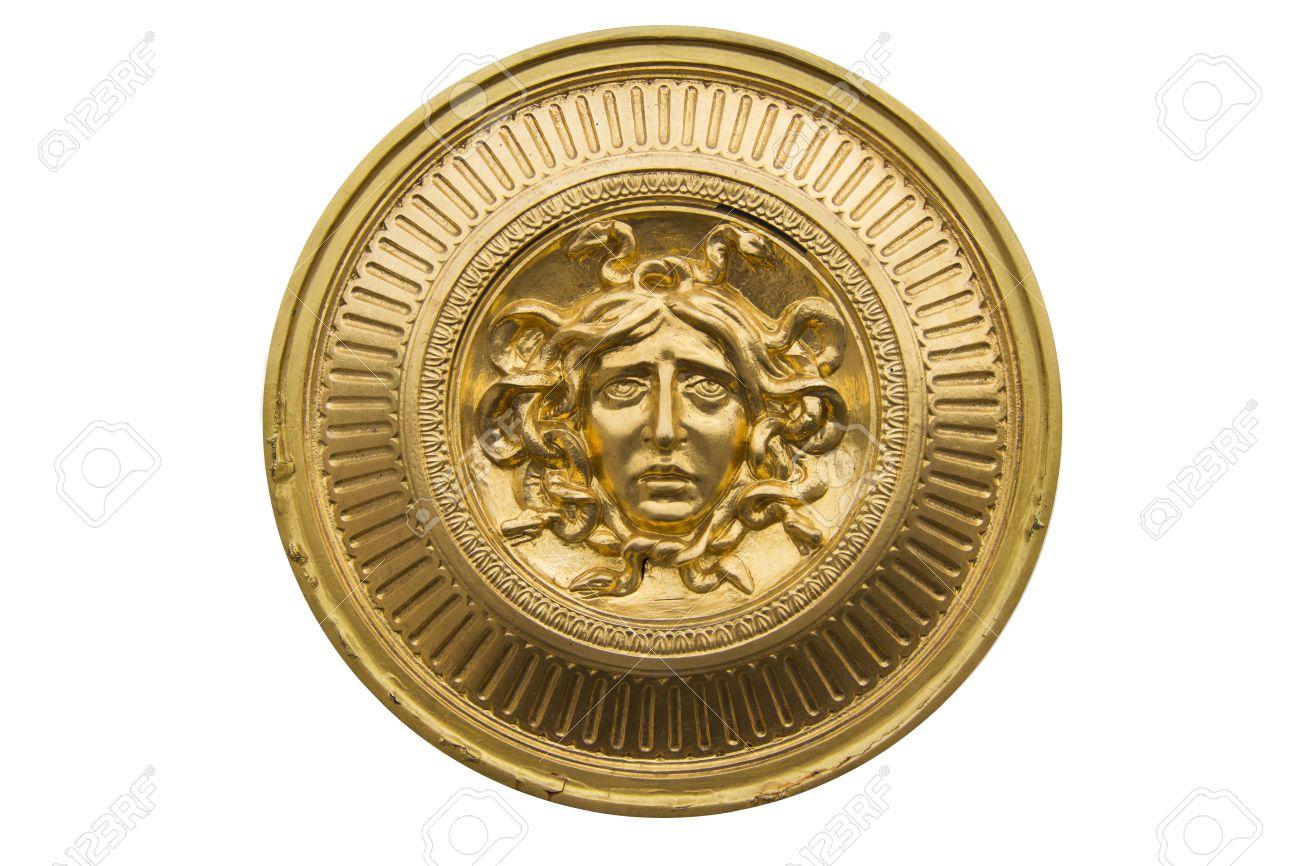 Medusa gold shield - 50694979