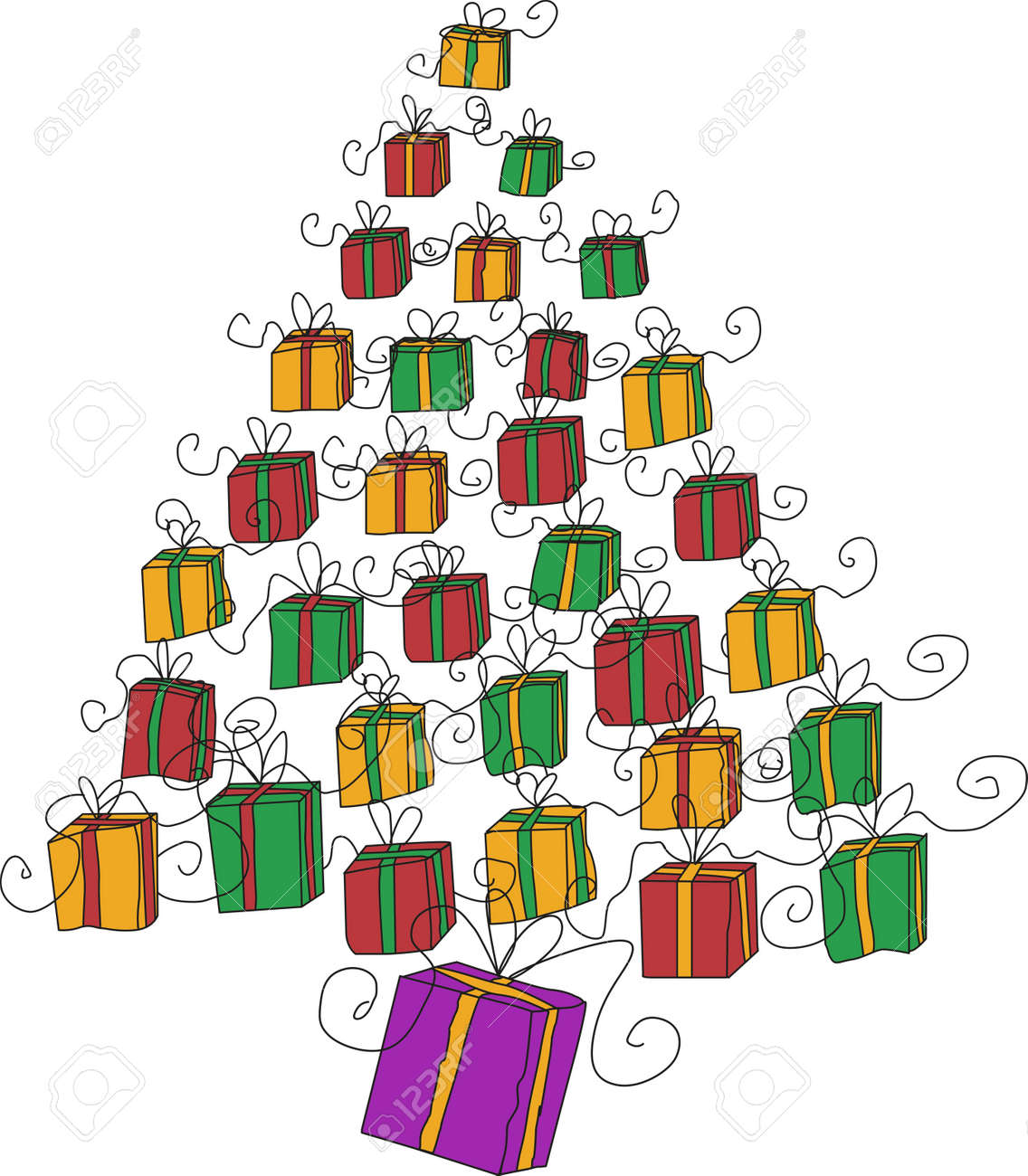 Christmas Tree Gifts Royalty Free Cliparts Vectors And Stock