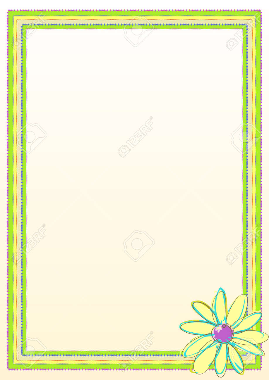 Flower Border Frame Royalty Free Cliparts, Vectors, And Stock ...
