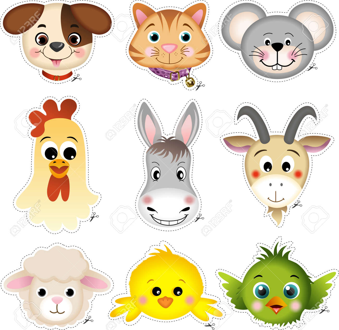 Pet head cut Stock Vector - 12024260