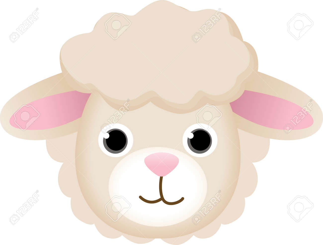Sheep Face Royalty Free Cliparts, Vectors, And Stock Illustration ...