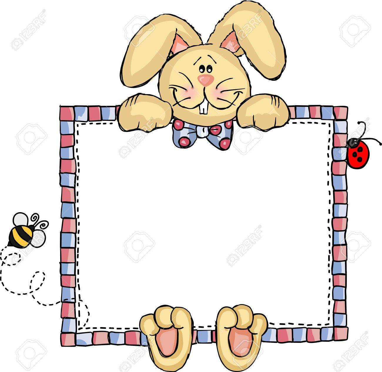 label frame bunny royalty free cliparts, vectors, and stock