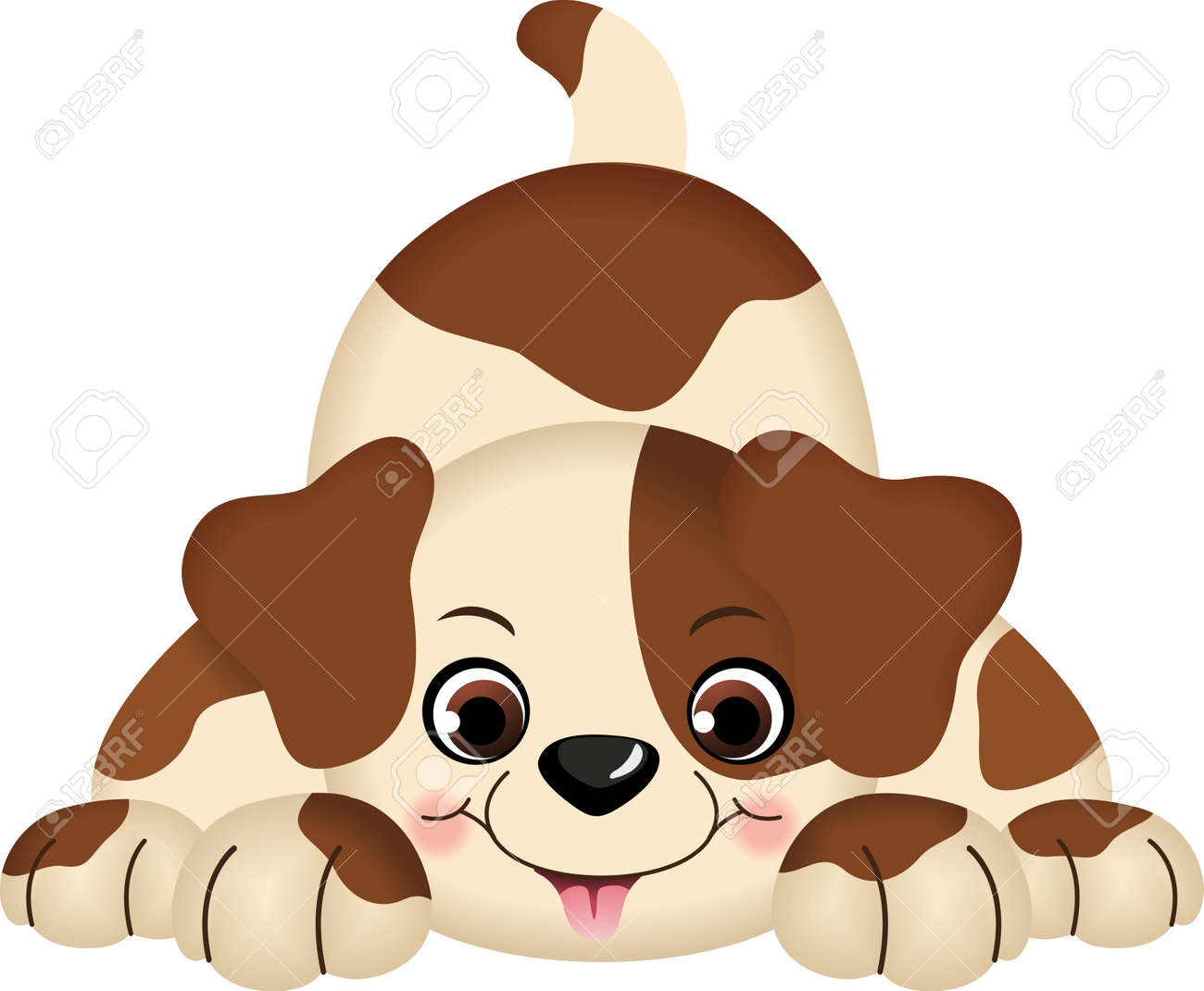 Pet Dog Playing Stock Vector - 13930098