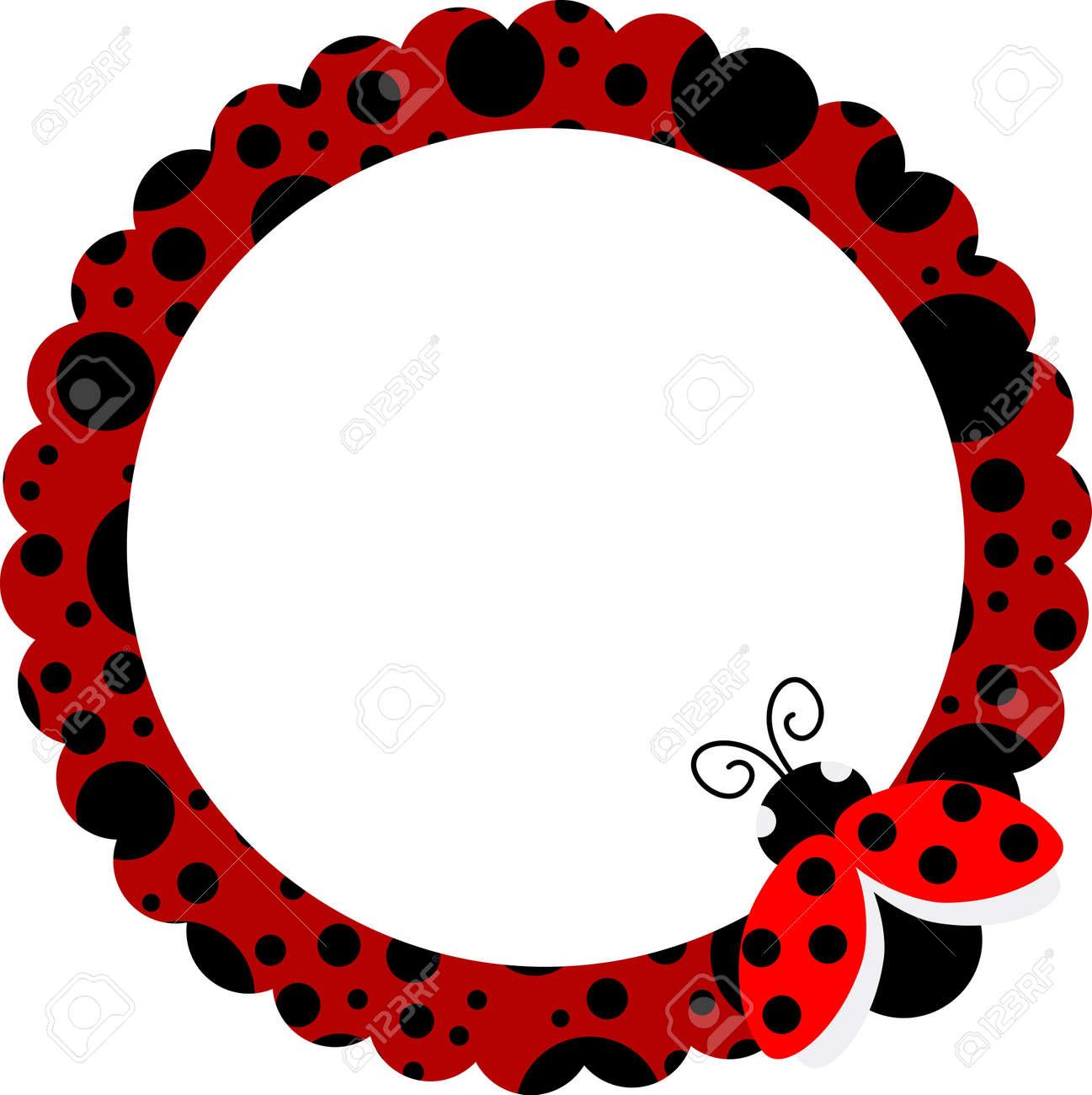 Ladybug Circle Frame - 14125878