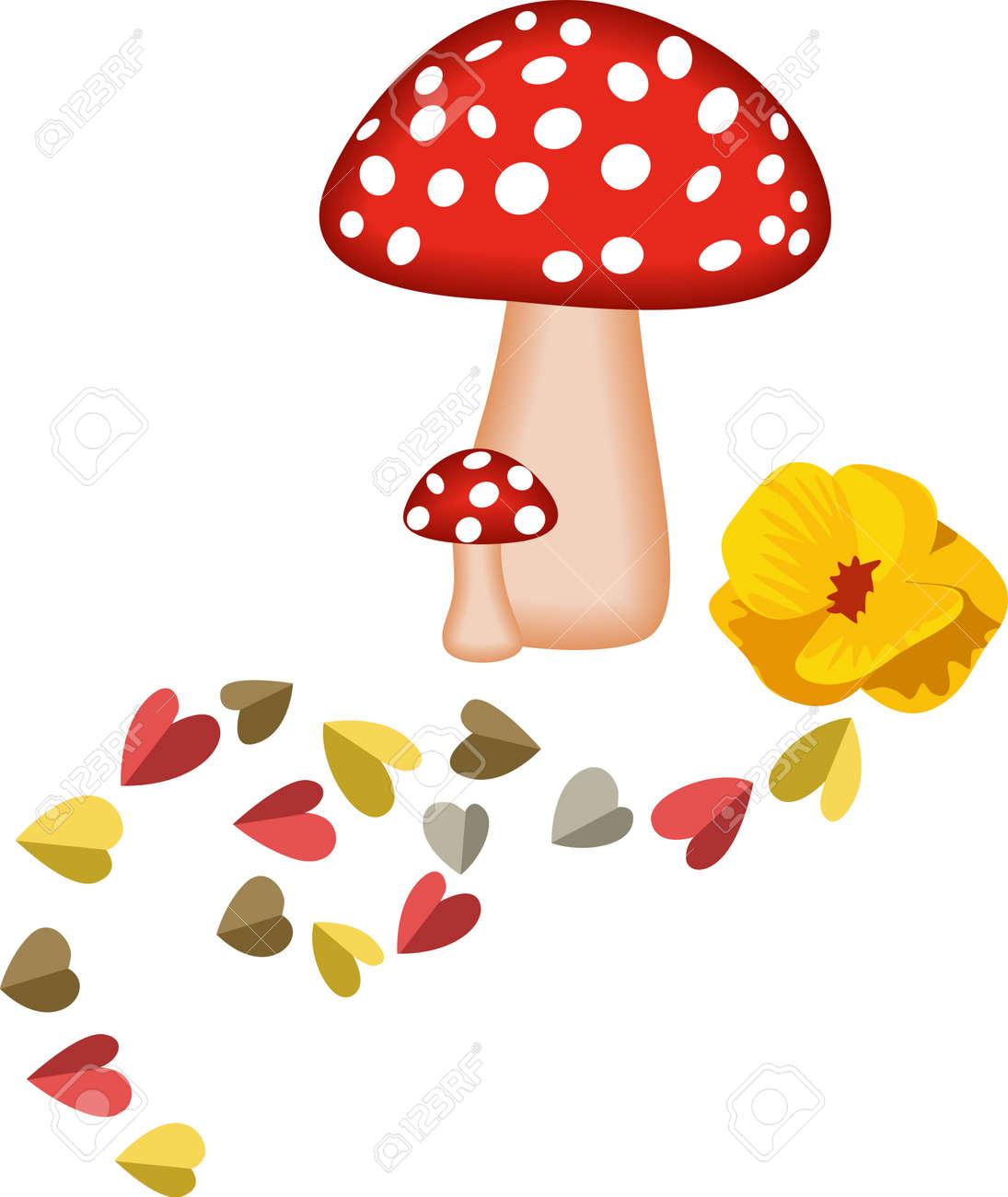 Magic Mushrooms and Hearts - 14403050