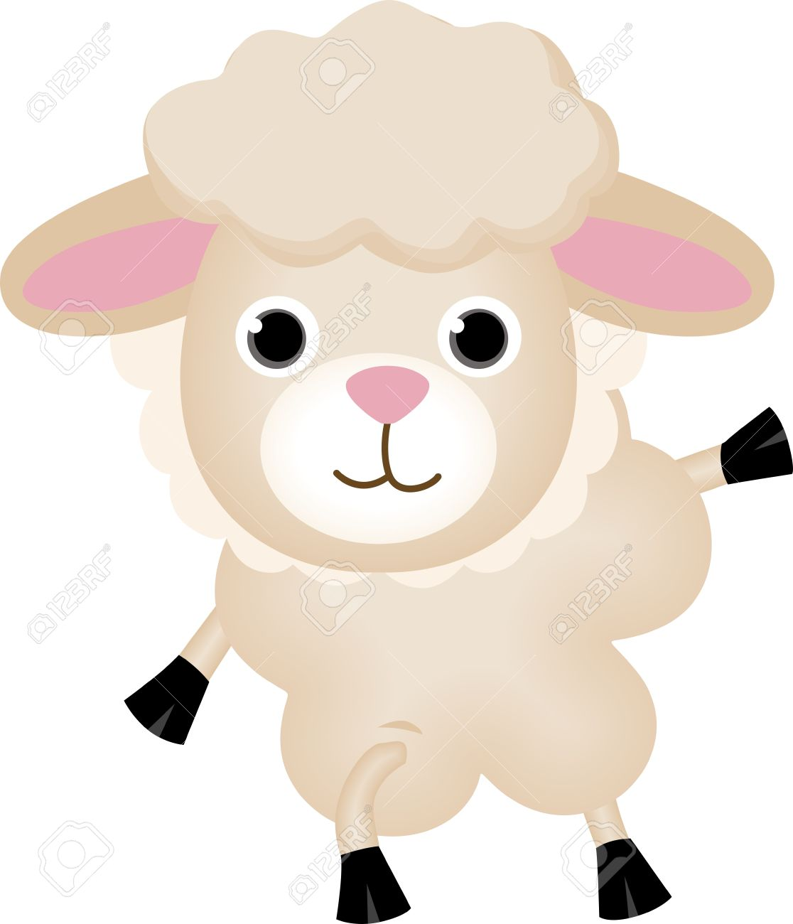 Cute Lamb Illustration