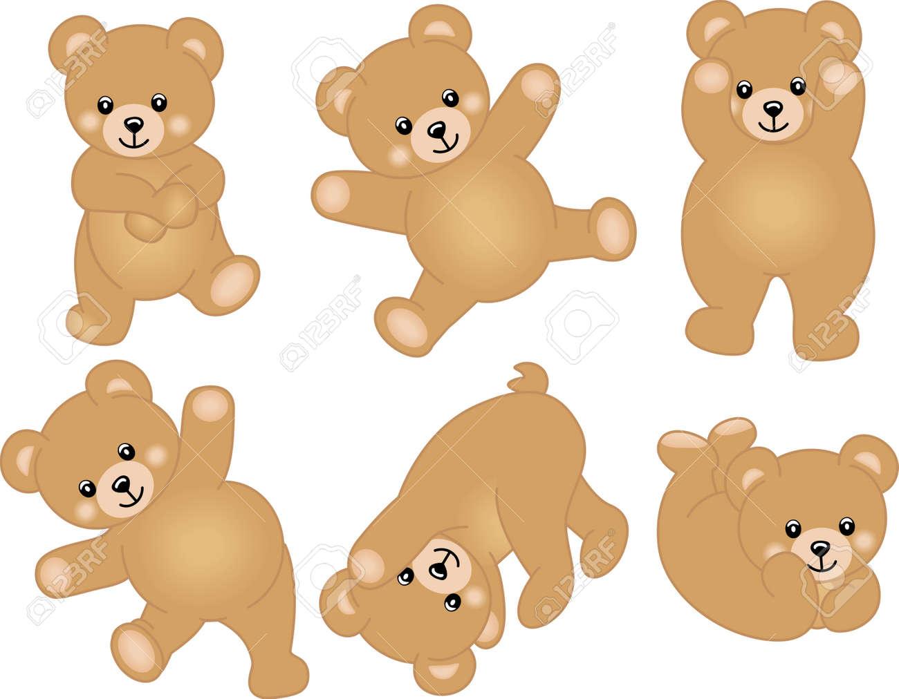 Cute Baby Teddy Bear Stock Vector - 16557226