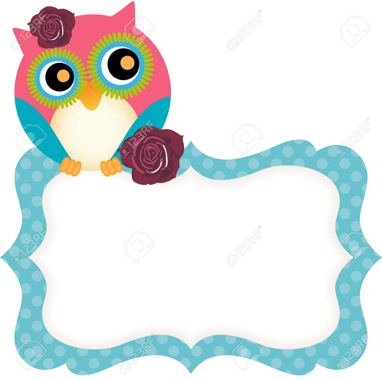 Cute Owl Tag Royalty Free Cliparts, Vectors, And Stock Illustration ...