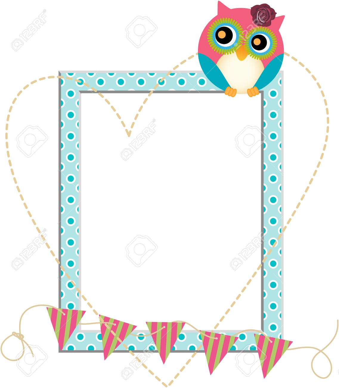 Owl Frame Royalty Free Cliparts, Vectors, And Stock Illustration ...