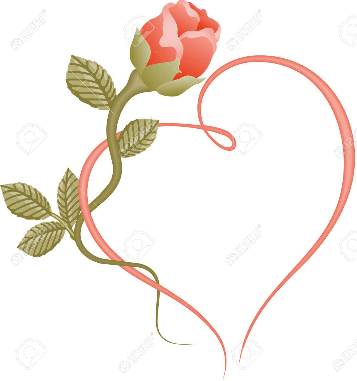 rose heart frame rose heart frame