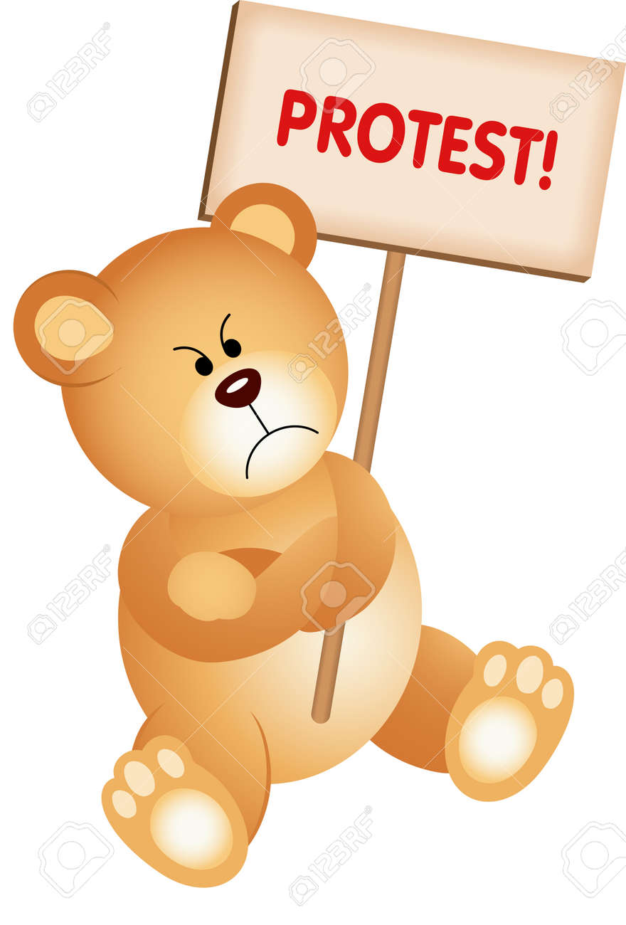 [Kép: 22583240-angry-teddy-bear-with-placard-protest.jpg]