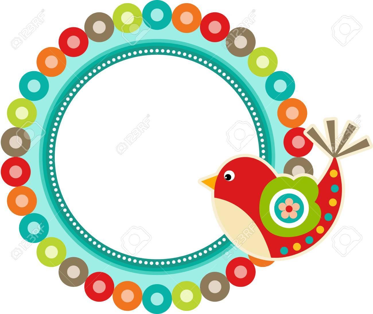 Marco Del Resorte Bird Ilustraciones Vectoriales, Clip Art ...