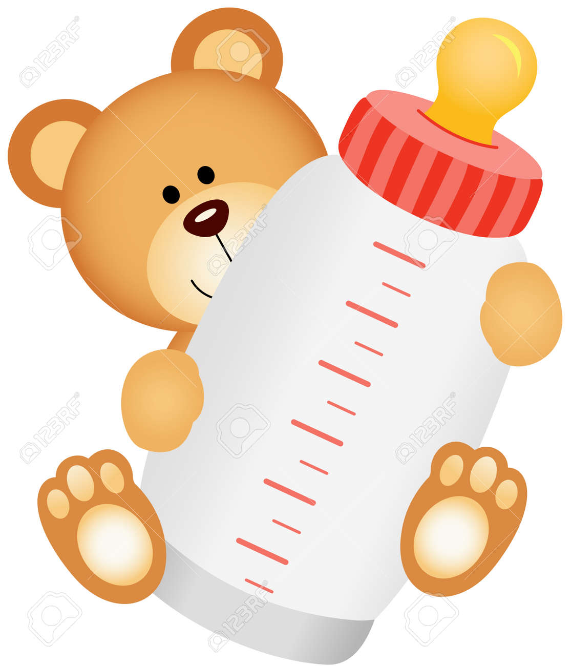teddy bear baby with bottle milk royalty free cliparts vectors and rh 123rf com baby bottle clipart black and white free baby bottle clipart black and white free