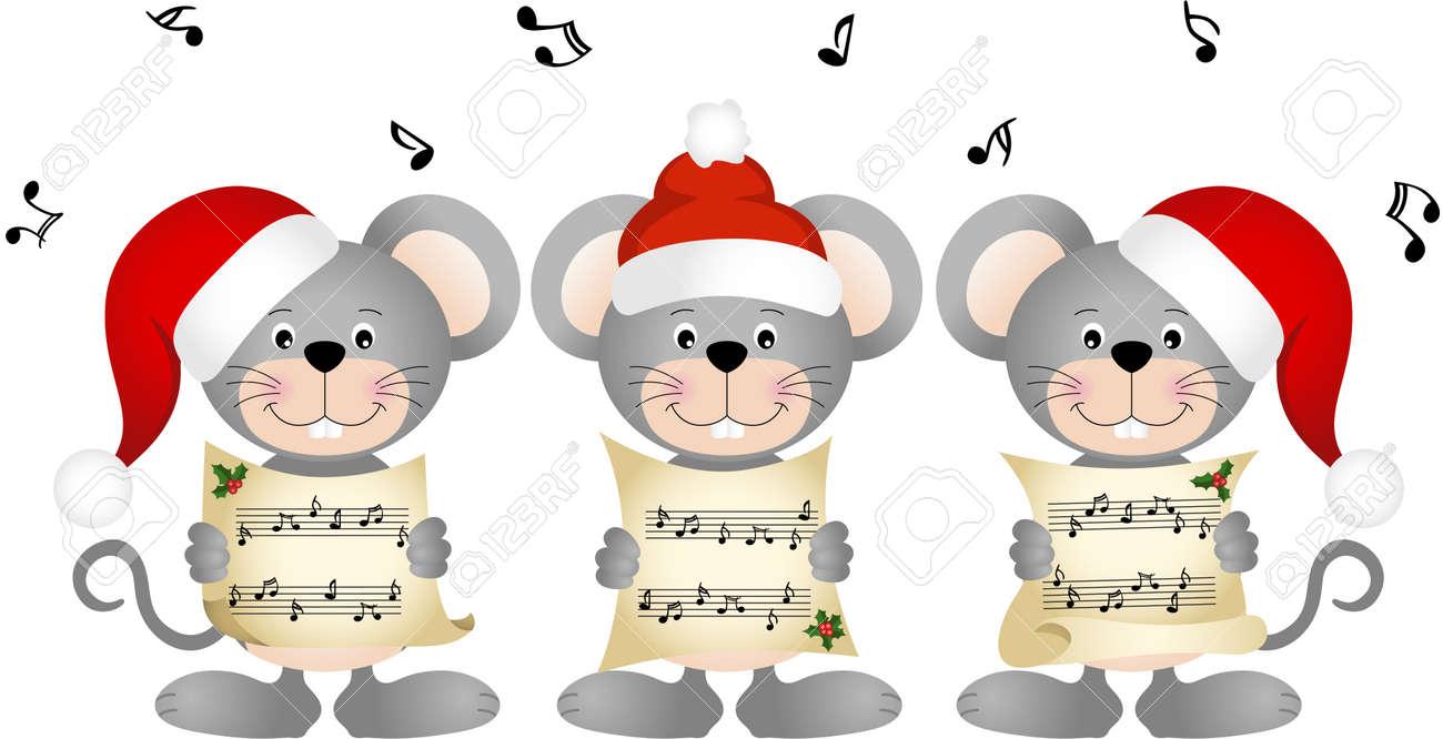 Christmas mouses choir singing - 48127004