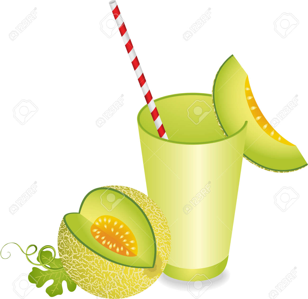 Cantaloupe Melon Juice Summer Refreshment Royalty Free Cliparts Vectors And Stock Illustration Image 48127025 Cantaloupe and mint juice marmita. cantaloupe melon juice summer refreshment