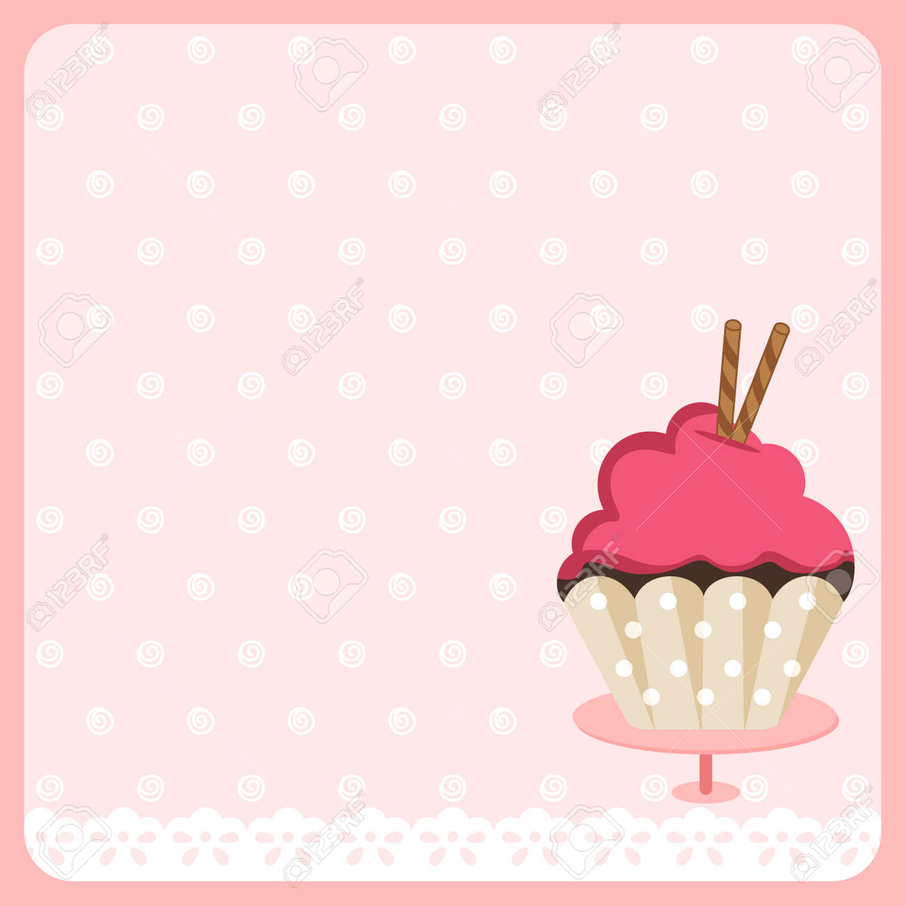 cute cupcake background royalty free cliparts vectors and stock illustration image 49745166 cute cupcake background