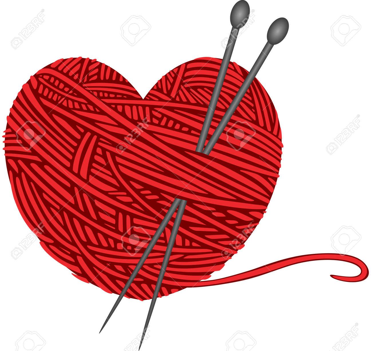 wool knitting heart shape royalty free cliparts vectors and stock rh 123rf com