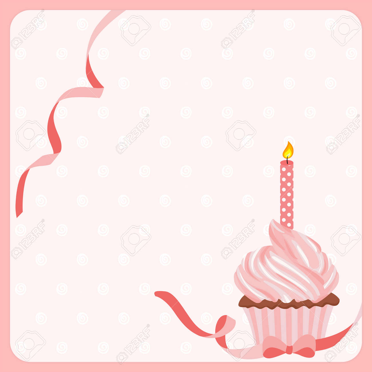Awe Inspiring Birthday Girl Cake Background With One Candle Royalty Free Funny Birthday Cards Online Overcheapnameinfo