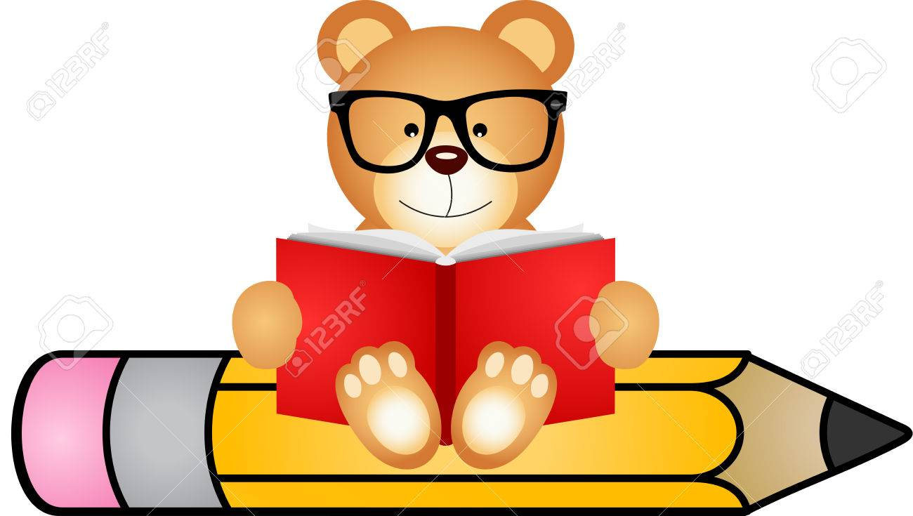 Image result for clipart free bear reading