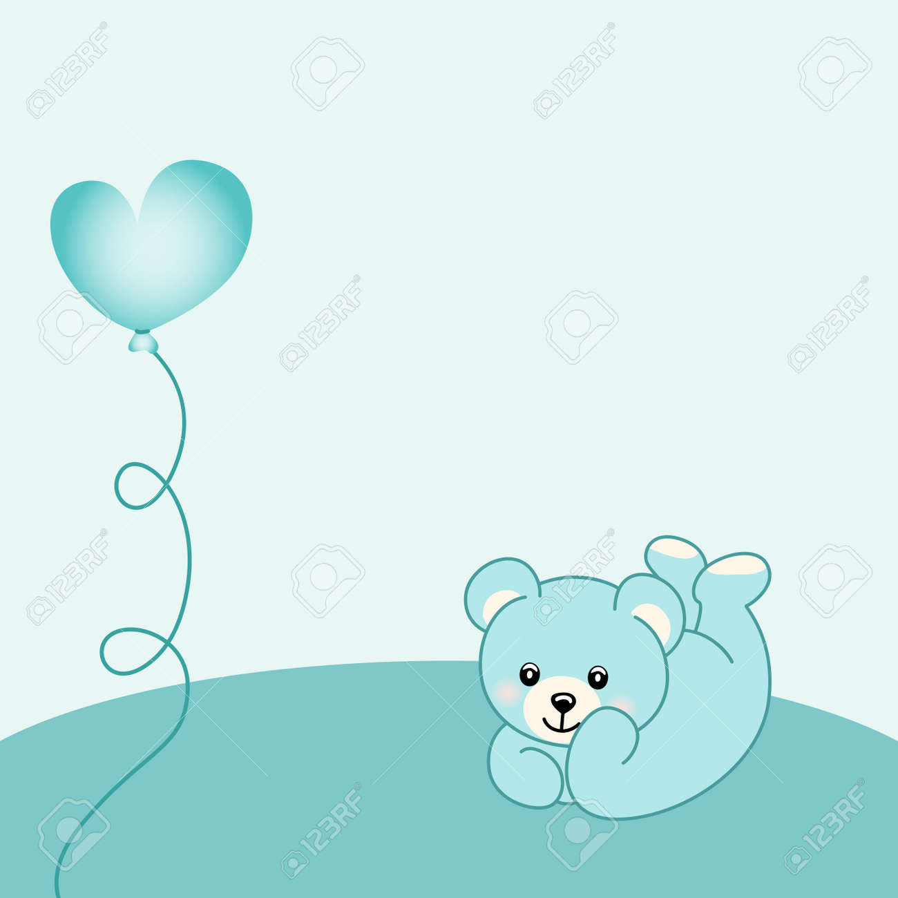 baby boy teddy bear background royalty free cliparts vectors and