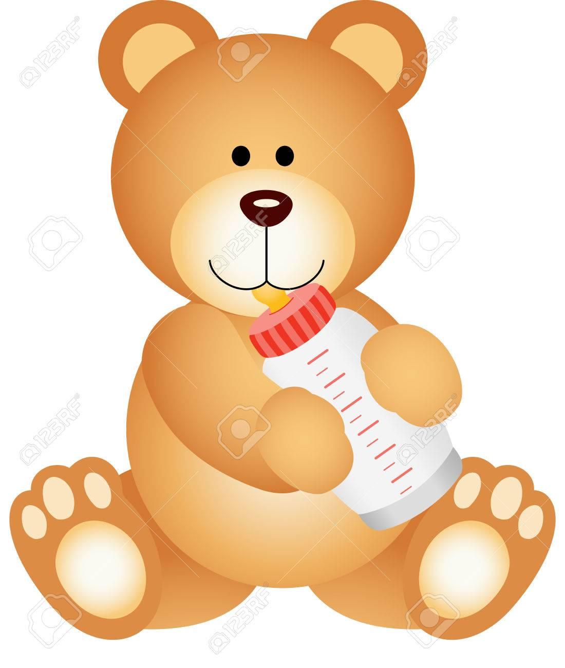 Dalla E Latte Bear freeVettori Stock Baby Beve Il Bottiglia Royalty Teddy Illustrator Clipart Pwkn0O