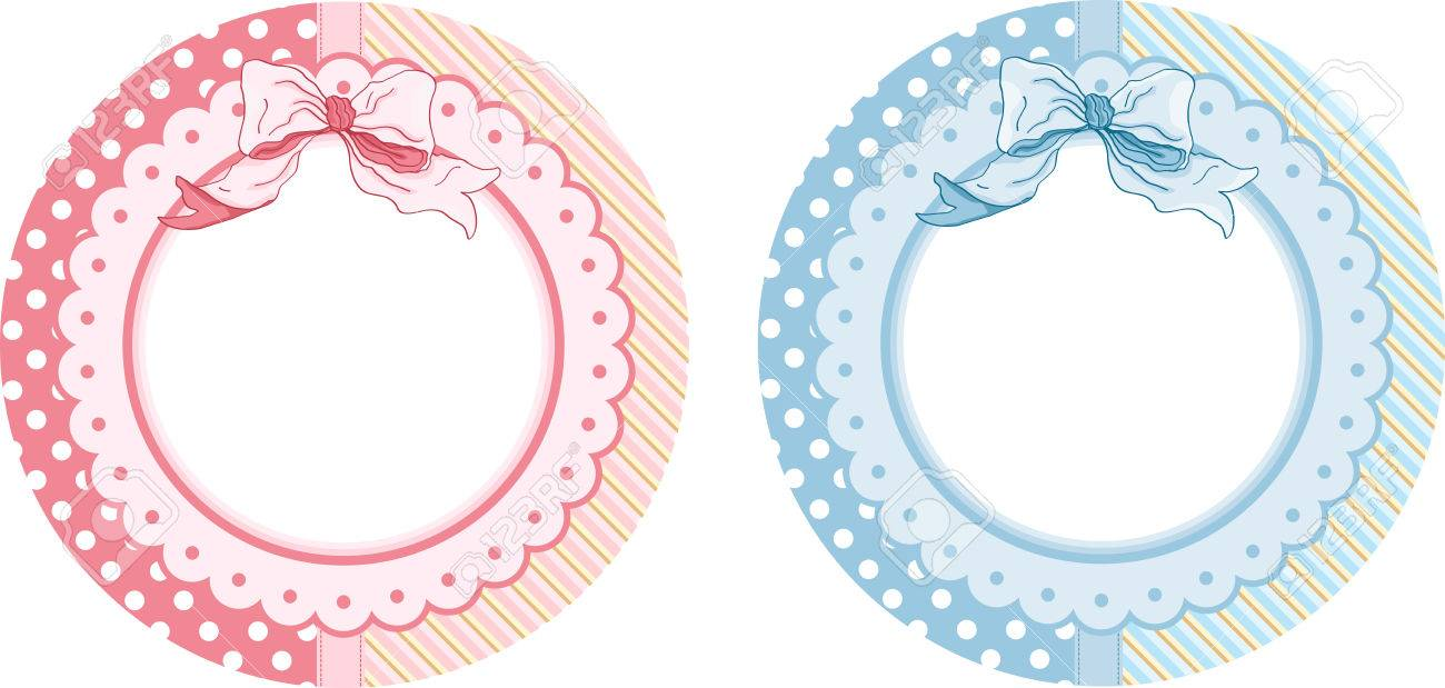 personalized baby shower round sticker labels royalty free cliparts