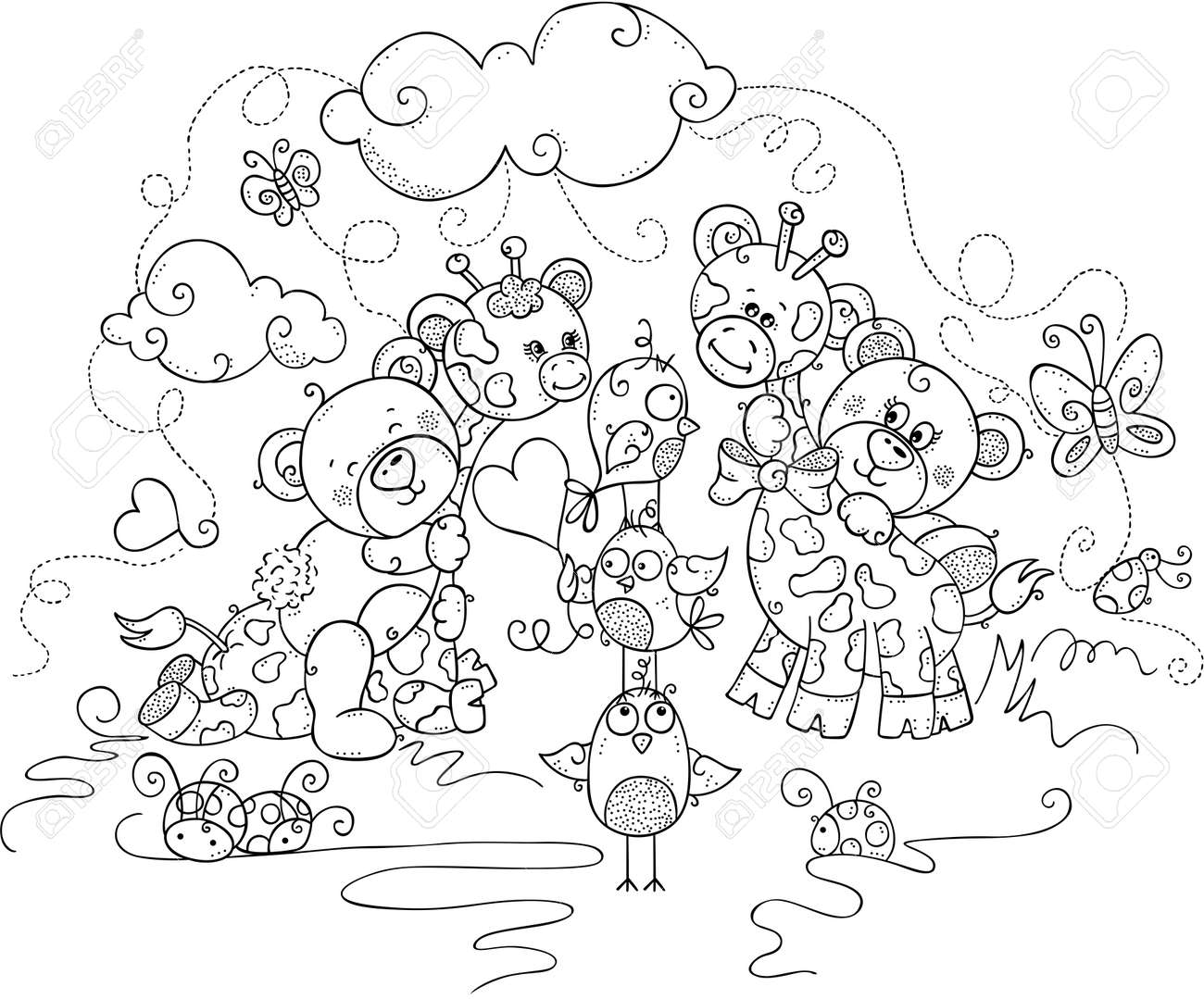 Free Printable Teddy Bear Coloring Pages For Kids | 1078x1300