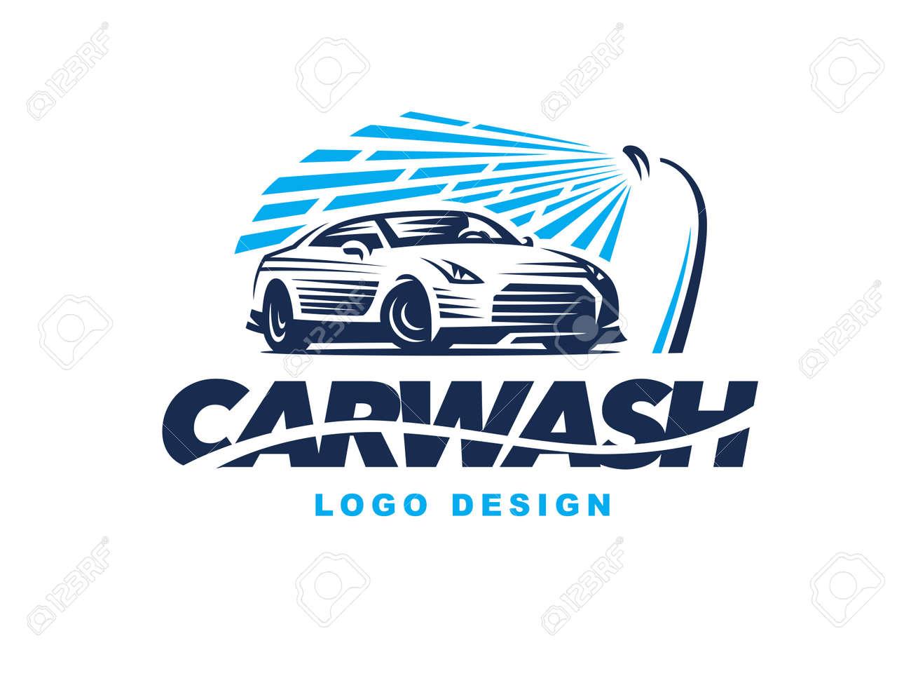 design car wash on light background. - 60325898