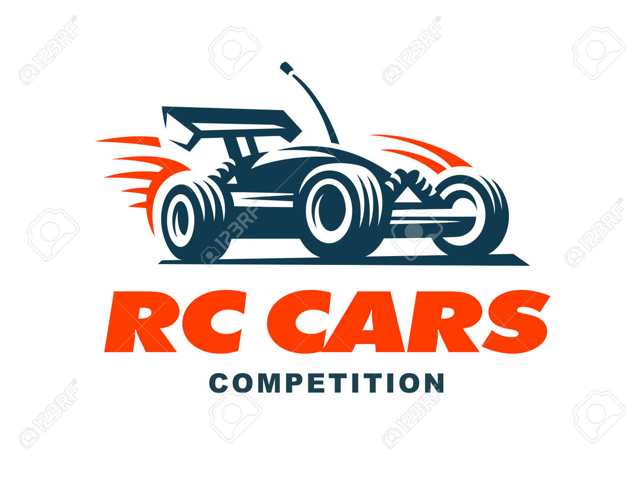 Radio controlled machine, RC, radio controlled toys design elements for emblems, icon, labels - 61425499