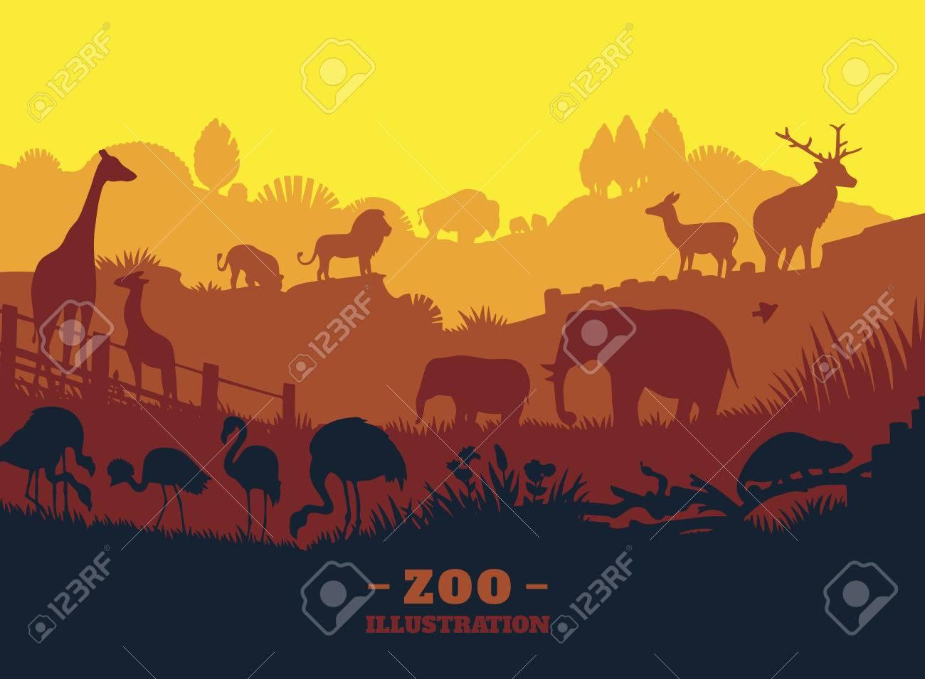 動物園 イラスト 背景