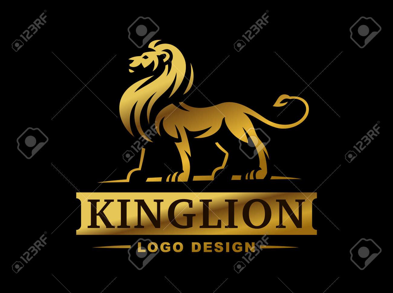 gold lion logo - Parfu kaptanband co
