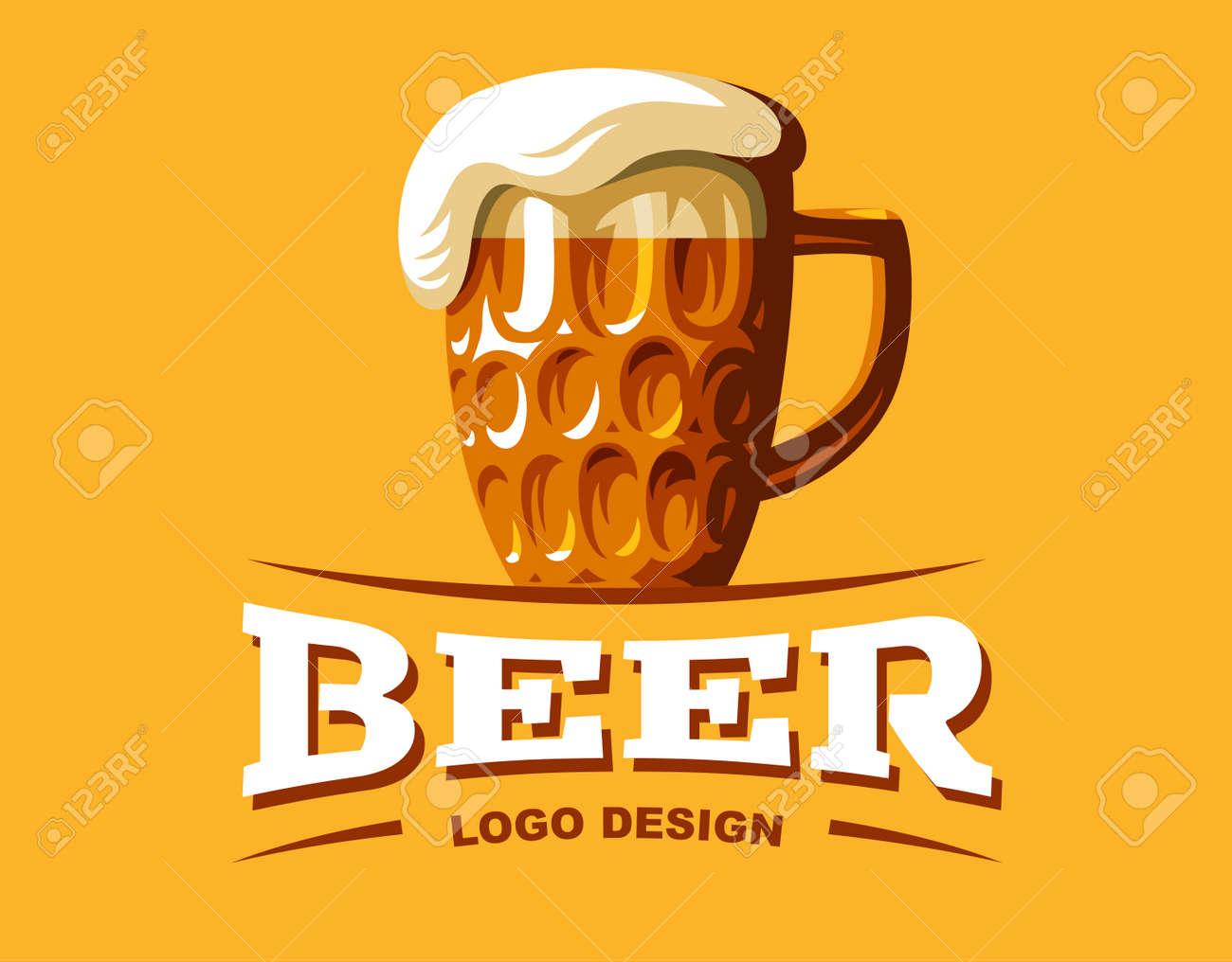Craft Beer Logo Vector Illustration Emblem Brewery Design On