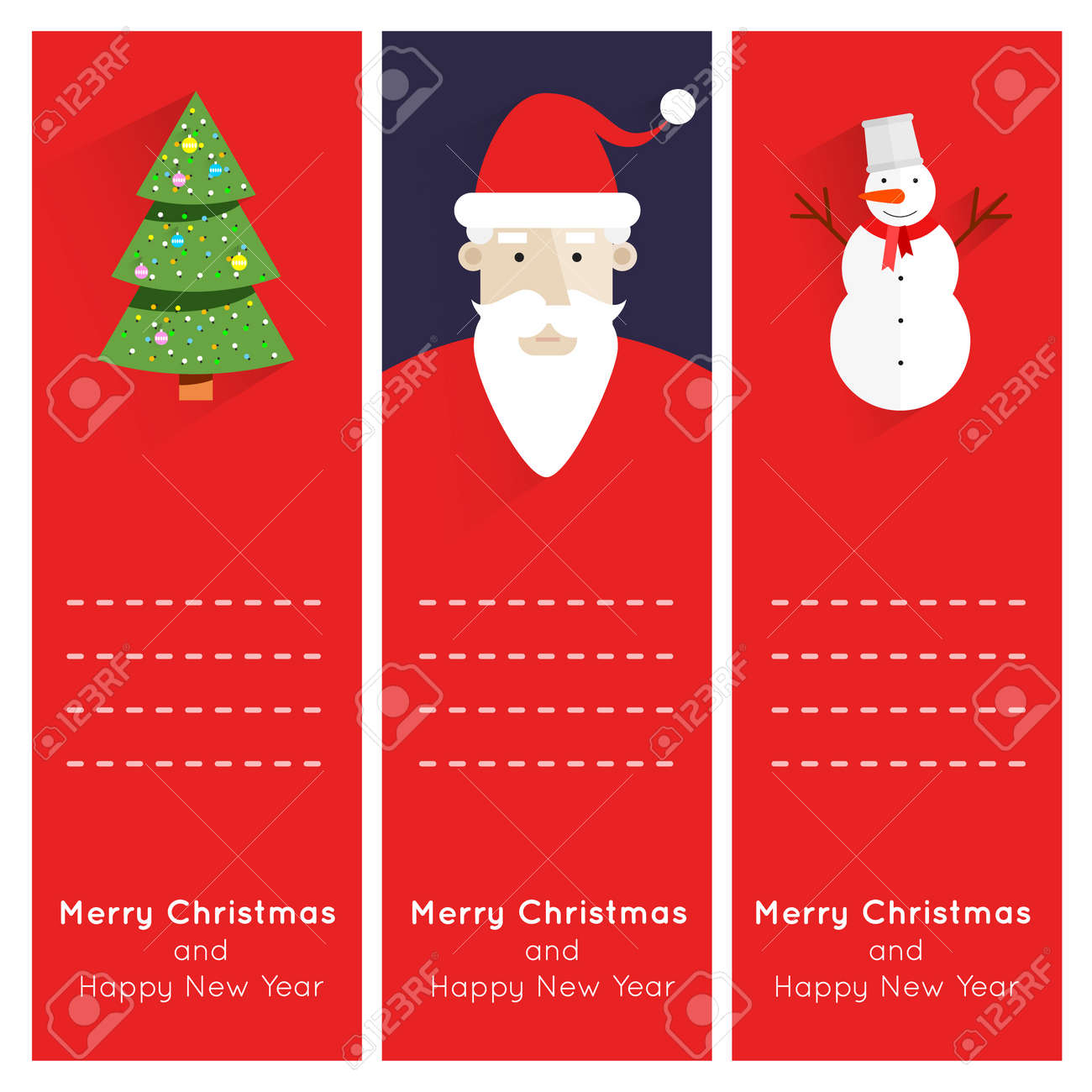 Free christmas poster design templates - Merry Christmas And Happy New Year Greeting Card Templates Poster Banner Card