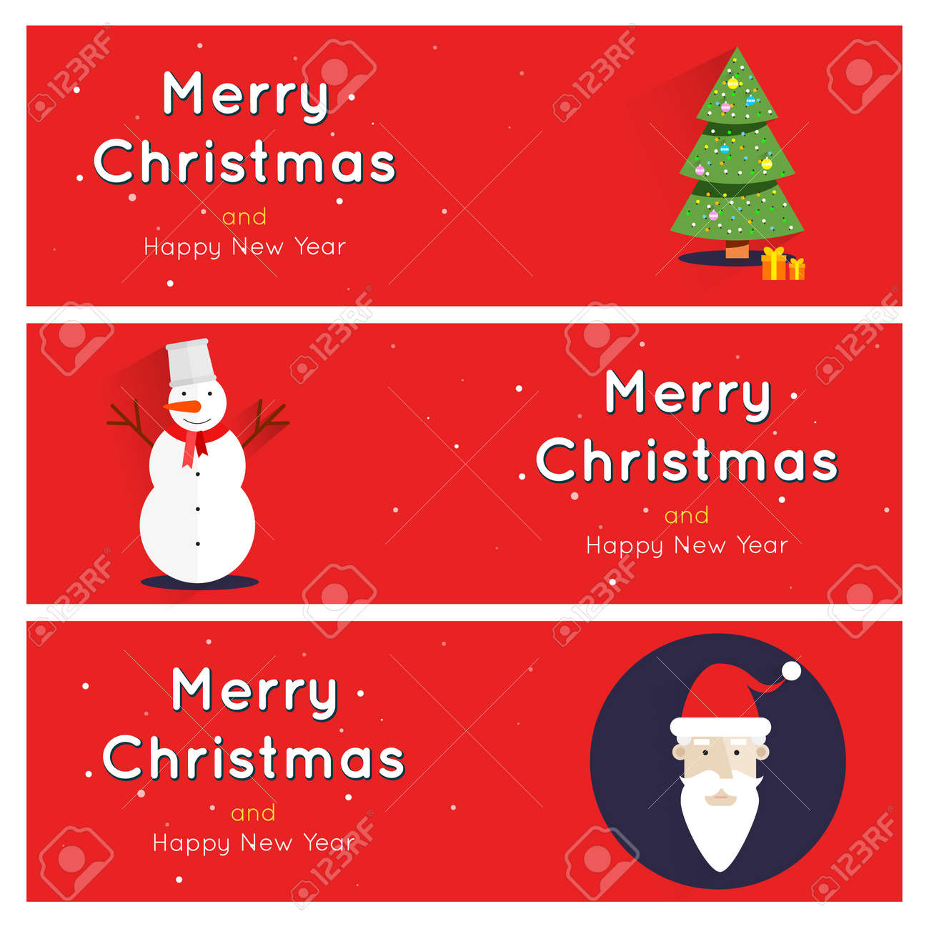 Merry Christmas And Happy New Year Greeting Card Templates Poster – New Year Greeting Card Template