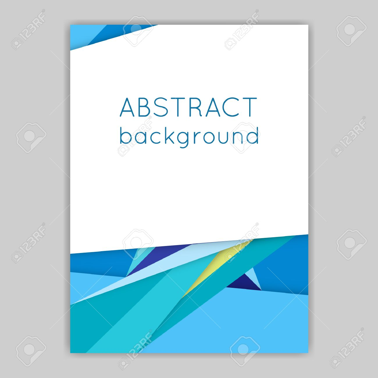 Material Design. Brochures With Geometric Elements. Abstract ...