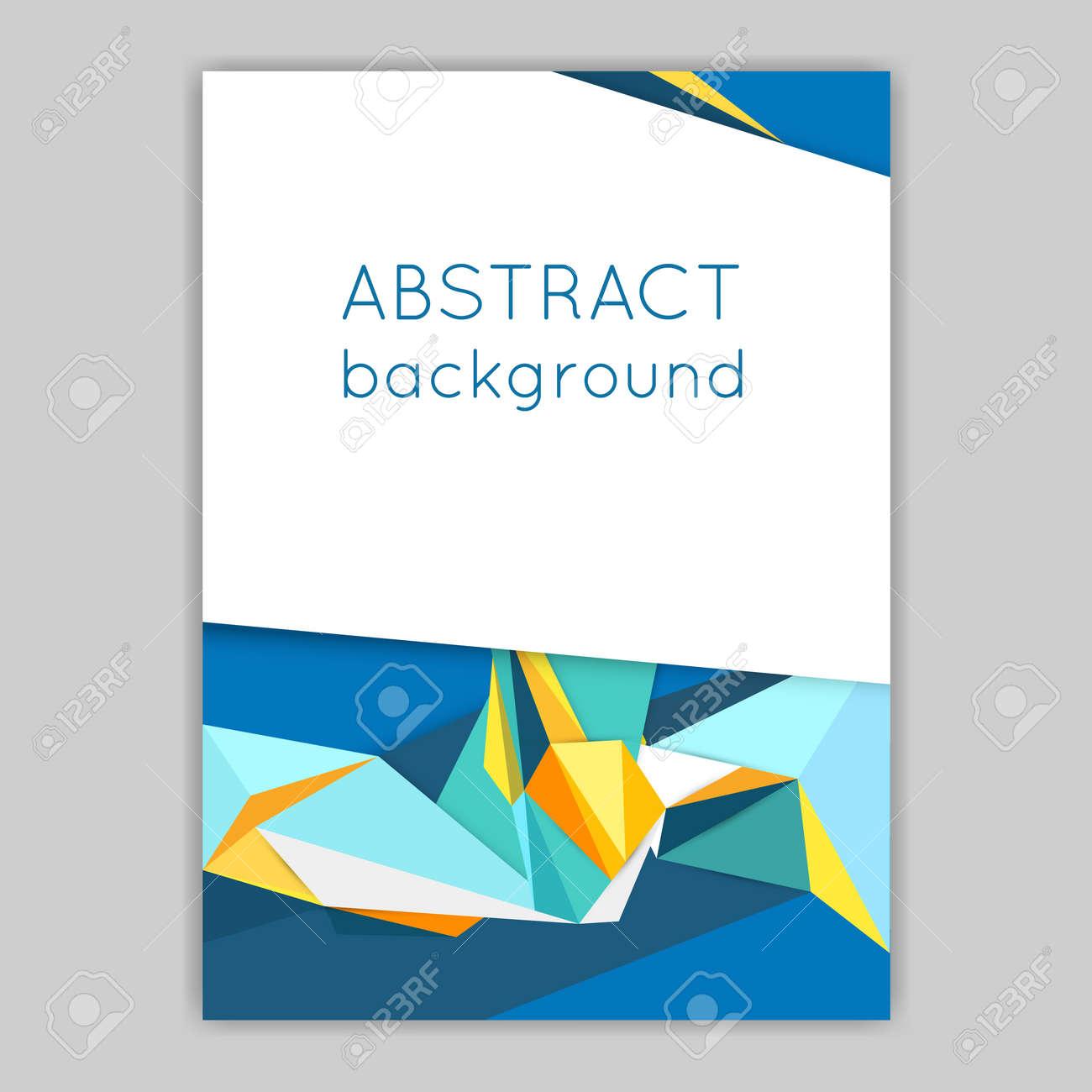 Material Design. Broschüren Mit Geometrischen Elementen. Abstrakt ...