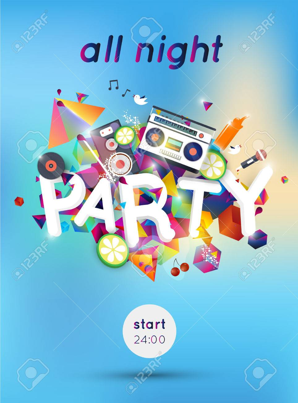 Party Poster Template. lounge bar party poster cocktails party ...
