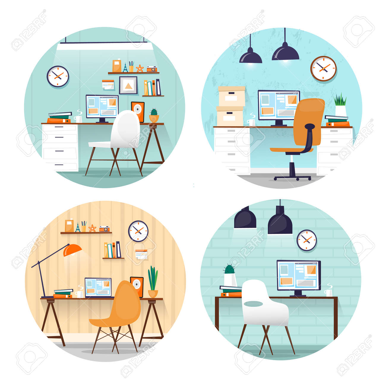 Office Arbeitsplatz Geschaft Buroarbeit Zimmer Unter Marketing