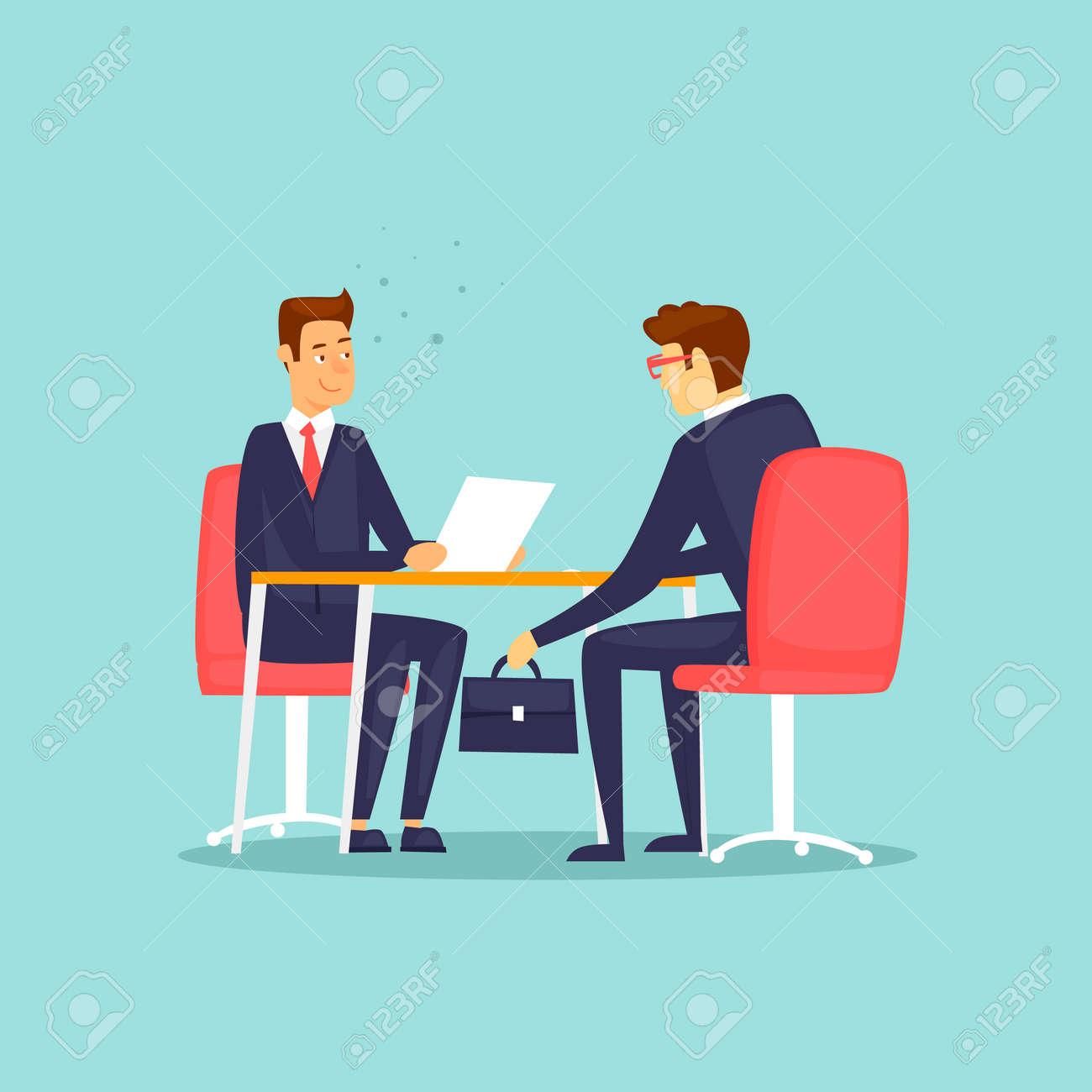 Businessman gives a bribe. Flat design vector illustration. - 94826184