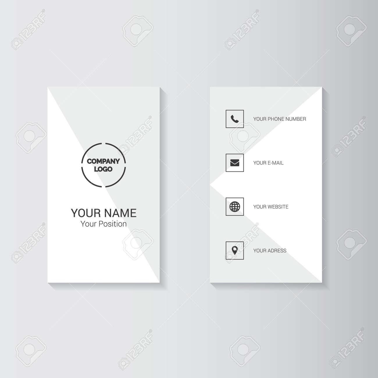 Plantilla Geométrica Simple Para Tarjetas De Visita Ilustraciones ...