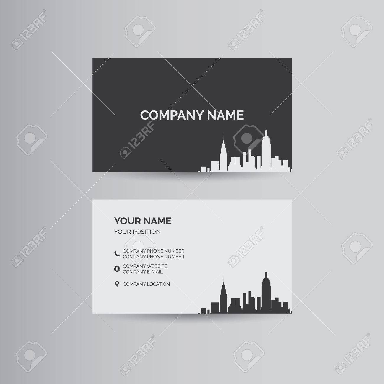 Simple geometric template for business card - 50826009