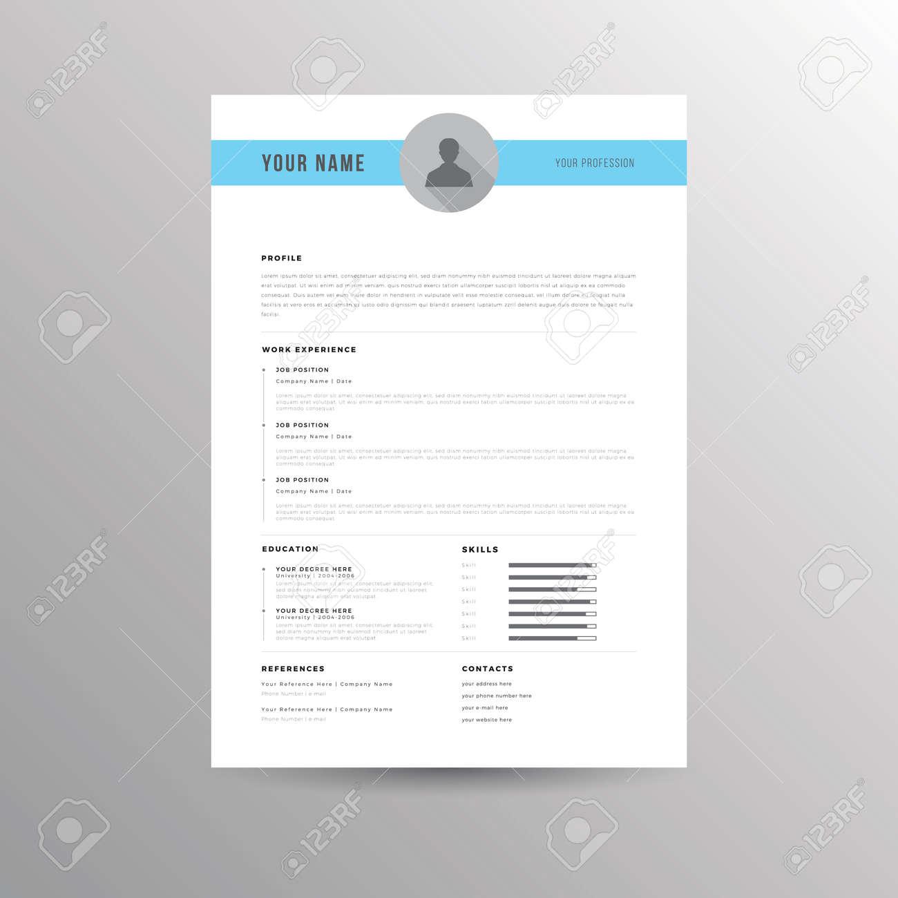 Cv Resume Vorlage Für Bewerbungen