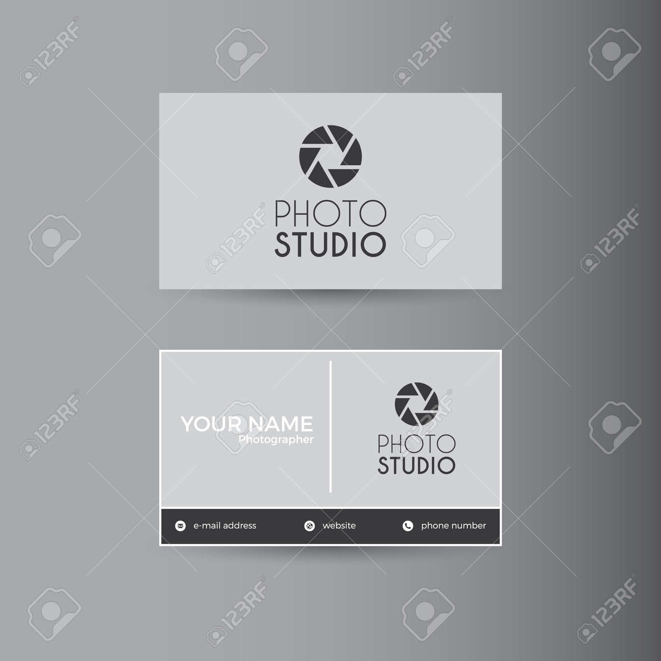Simple Template For Photography Business Card Royalty Free Cliparts ...