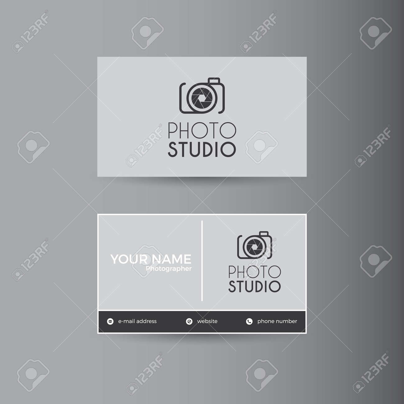 simple template for photography business card stock vector 72911056 - Photography Business Card
